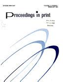 Proceedings in Print