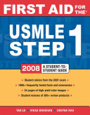 First Aid for the USMLE Step 1 2008 Book