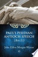 Paul's Pisidian Antioch Speech