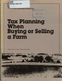 Tax Planning when Buying Or Selling a Farm Book PDF