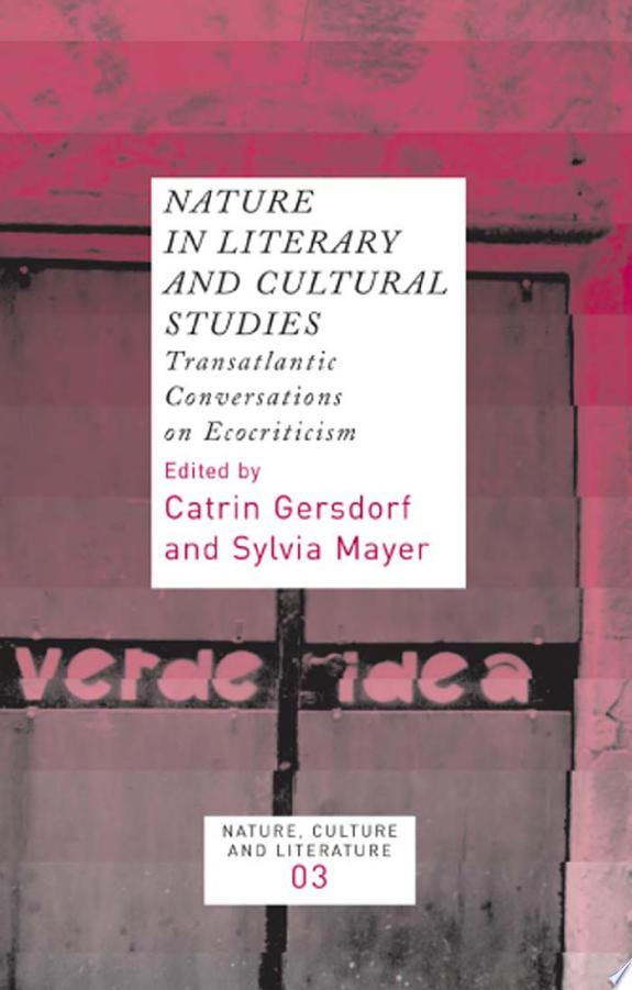 Nature in Literary and Cultural Studies