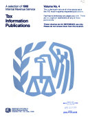 A Selection of ... Internal Revenue Service Tax Information Publications