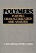 Polymers Polymer Characterization And Analysis Book PDF