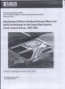Geochemical effects of induced streamwater and artificial recharge on the Equus Beds aquifer, southcentral Kansas, 19952004