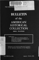 Bulletin of the American Historical Collection