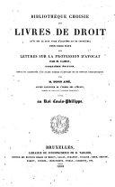 Lettres sur la profession d'avocat