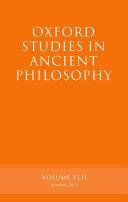 Oxford Studies in Ancient Philosophy