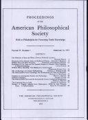 Proceedings, American Philosophical Society (vol. 97, no. 1)