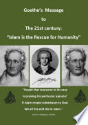 Goethe   s Message for the 21st century   Islam is the rescue for Humanity