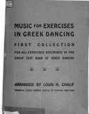 Music for exercises in Greek dancing