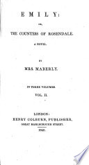 Emily  or  the Countess of Rosendale  A novel