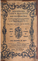 Blackwood s Lady s Magazine and Gazette of the Fashionable World  Or  St  James s Court register of Belles Lettres  Fine Arts  Music  Drama  Fashions   c