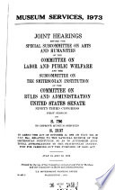 Museum Services 1973
