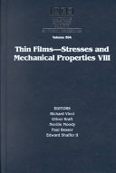 Thin Films   Stresses and Mechanical Properties VIII  Volume 594