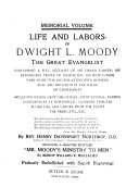 Life and Labors of Dwight L. Moody