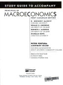 Study Guide to Accompany Principles of Macroeconomics  First Canadian Edition