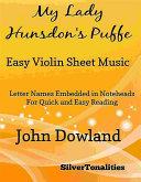 My Lady Hunsdon's Puffe Easy Violin Sheet Music