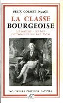 Pdf La classe bourgeoise Telecharger