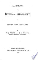 Handbook Of Natural Philosophy For School And Home Use Book PDF
