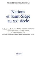 Pdf Nations et Saint-Siège au XXe siècle Telecharger