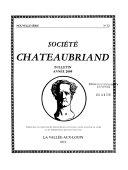 Bulletin - Société Chateaubriand