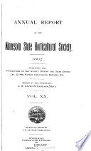 Annual Report of the Minnesota State Horticultural Society for the Year     Book PDF
