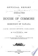 House of Commons Debates, Official Report