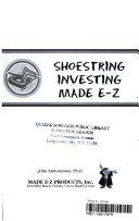 Shoe String Investing Made E Z