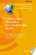Collaborative Networks for a Sustainable World Book