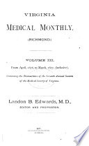 Virginia Medical Monthly