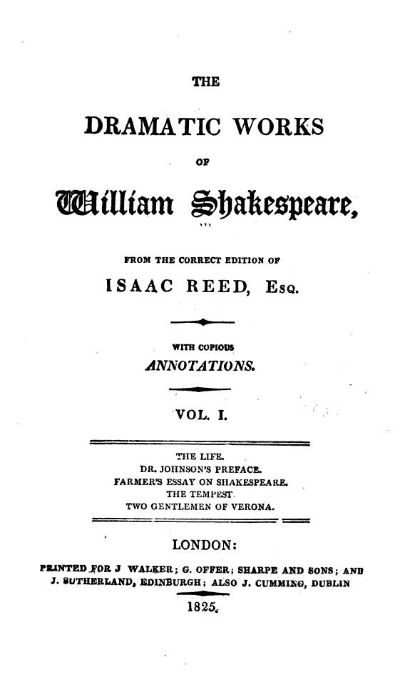 Some account of the life   c  of William Shakespeare