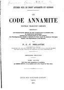 Le code annamite, nouvelle traduction complète