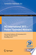 HCI International 2013   Posters  Extended Abstracts