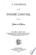 A Grammar Of The English Language With An Analysis Of The Sentence
