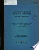 Filtration of Radioactive Aerosols by Glass Fibers  Appendices Book
