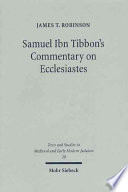 Samuel Ibn Tibbon's Commentary on Ecclesiastes