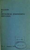 Bulletin of Mechanical Engineering Education