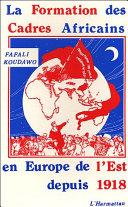 Pdf La formation des cadres africains en Europe de l'Est depuis 1918 Telecharger