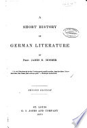 A Short History of German Literature