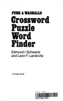 Pdf Funk and Wagnalls Crossword Puzzle Word Finder