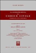 La giurisprudenza sul codice civile. Coordinata con la dottrina