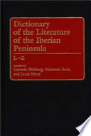 Dictionary of the Literature of the Iberian Peninsula  , Volume 2