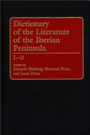 Dictionary of the Literature of the Iberian Peninsula