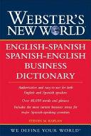 Webster s New World English Spanish   Spanish English Business Dictionary