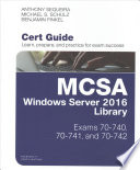 Mcsa Windows Server 2016 Cert Guide Library