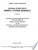 National Power Survey  Energy Systems Research Book
