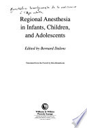 Regional Anesthesia in Infants, Children, and Adolescents