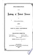 Proceedings Of The Academy Of Natural Sciences Part Ii Apr Sept 1898