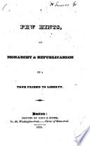 A few hints on monarchy & republicanism
