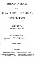 The Quarterly Of The Texas State Historical Association